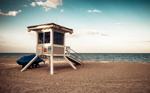 Fort Lauderdale beach. Photo via.
